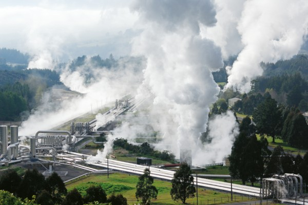 The sheer power that underlies Taupo can be grasped at the bore fields of Wairakei geothermal power station.