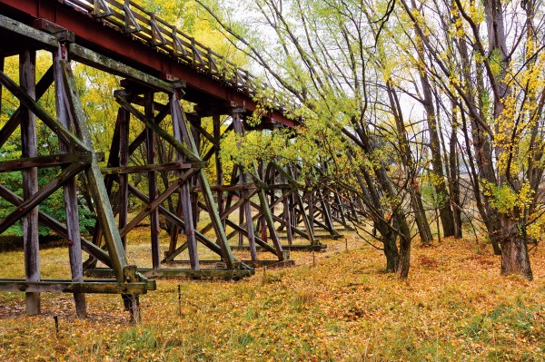 The success of the Otago Central Rail Trail has provided the province with its biggest economic boom since the 1860s gold rush and has also helped to preserve some of the region's historic attractions, like the 110 metre-long Muttontown viaduct constructed in 1907.