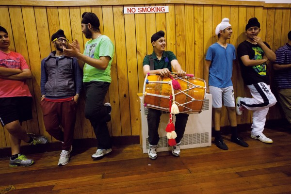 Students of the Punjabi Virsa Arts and Dance Academy practice Bhangra and Gidha music in the Papatoetoe Town Hall every Thursday evening. The majority of the group live locally and were born and bred in New Zealand. They take part in local sports—particularly cricket, soccer, swimming and hockey—while maintaining the traditions of their now distant culture under the umbrella of the academy which is dedicated to empowering youth.
