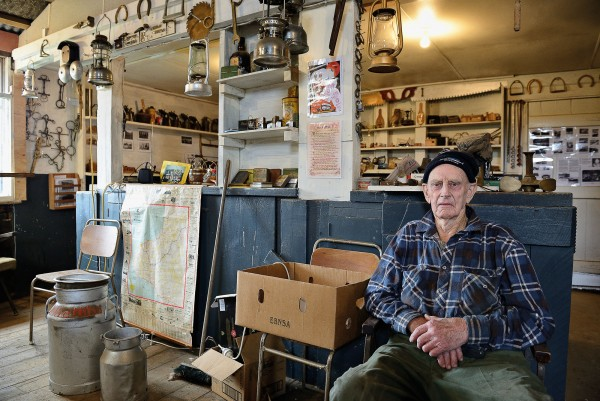 """Murray McCartie has seen many changes in the 86 years he has been living in Tahora. After giving up farming the rugged hills, he converted his woolshed into a museum. """"We stored away bits and pieces for decades. I knew that one day they would come in handy."""""""
