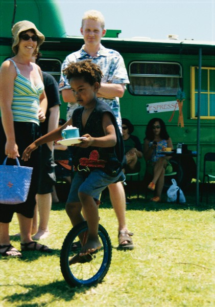 """Seven-year-old unicyclist Jahl—his name, appropriately enough, is Arabic for """"traveller from place to place""""—took to the saddle aged five. His stunt repertoire includes spins, bunny hops and formation cycling, along with fetching a cappuccino for show master Ralph Bennet. """"Sometimes there are holes in the ground, so I spill it, or even fall off,"""" he admits cheerfully."""
