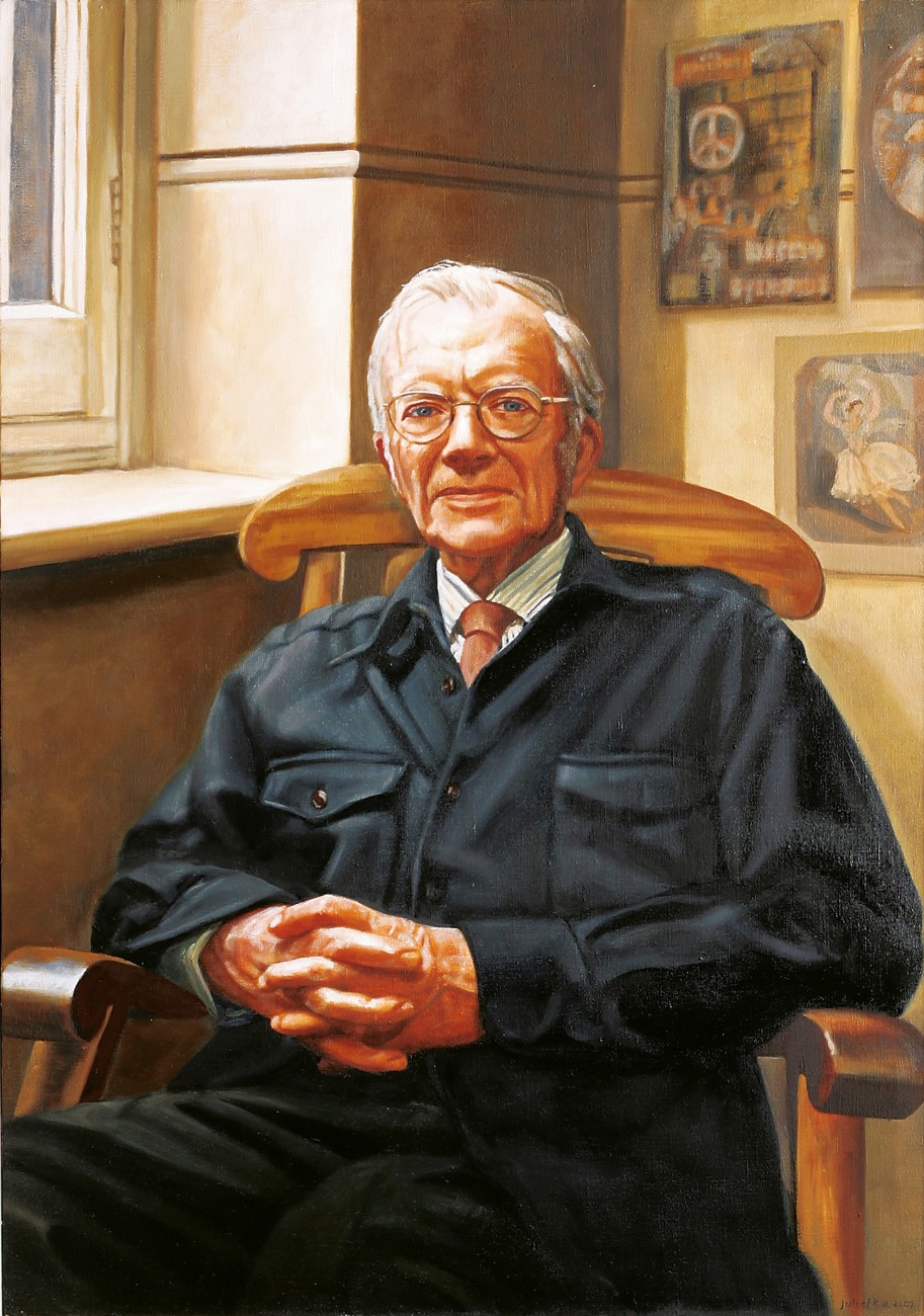The Royal Society of New Zealand Portrait Gallery commissioned expatriate New Zealand artist Juliet Kac to produce a portrait of Wilkins in commemoration of the 50th anniversary of the discovery of the structure of DNA. The Royal Society also commissioned Wellington Poet Chris Orsman to write a poem in honour of the occasion.