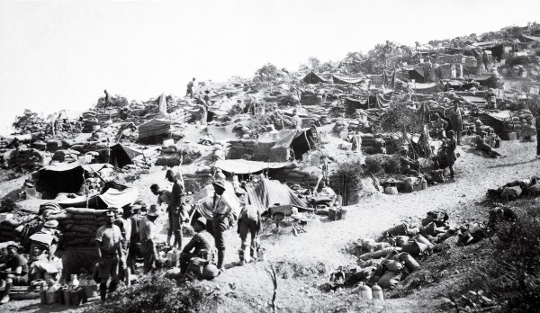 Above-ground encampments, although makeshift affairs, could be surprisingly ordered and provided a welcome relief from the claustrophobic and uncomfortable trenches. The Apex, however, home of the New Zealand Infantry Brigade headquarters during the August Offensive, was a shambles, being exposed to constant artillery bombardment.