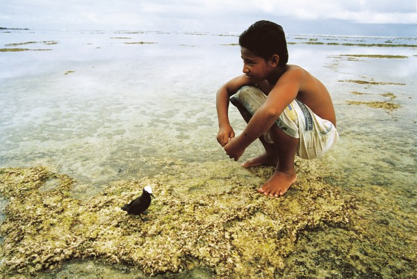 A boy, a pet bird, a coral reef, a Pacifi c paradise. But for how long will atolls like Nanumea remain habitable? Predictions range from a decade to more than a thousand years. However, many in this devoutly Christian country believe they will be spared an environmental apocalypse.