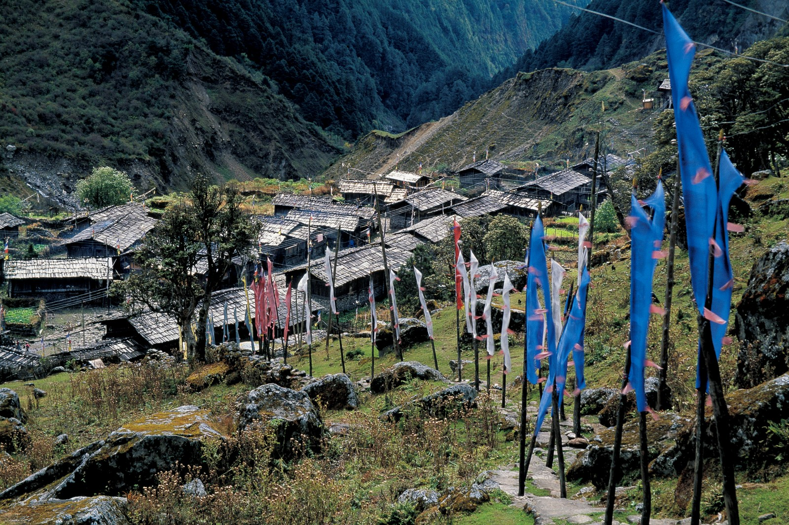 Following his successful climb, Hardie trekked through Nepal visiting remote villages including Olangchunggola by the Tibetan border.