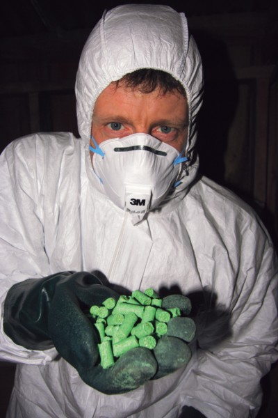 Poisons, such as rodenticide brodifacoum, are also part of the armoury.