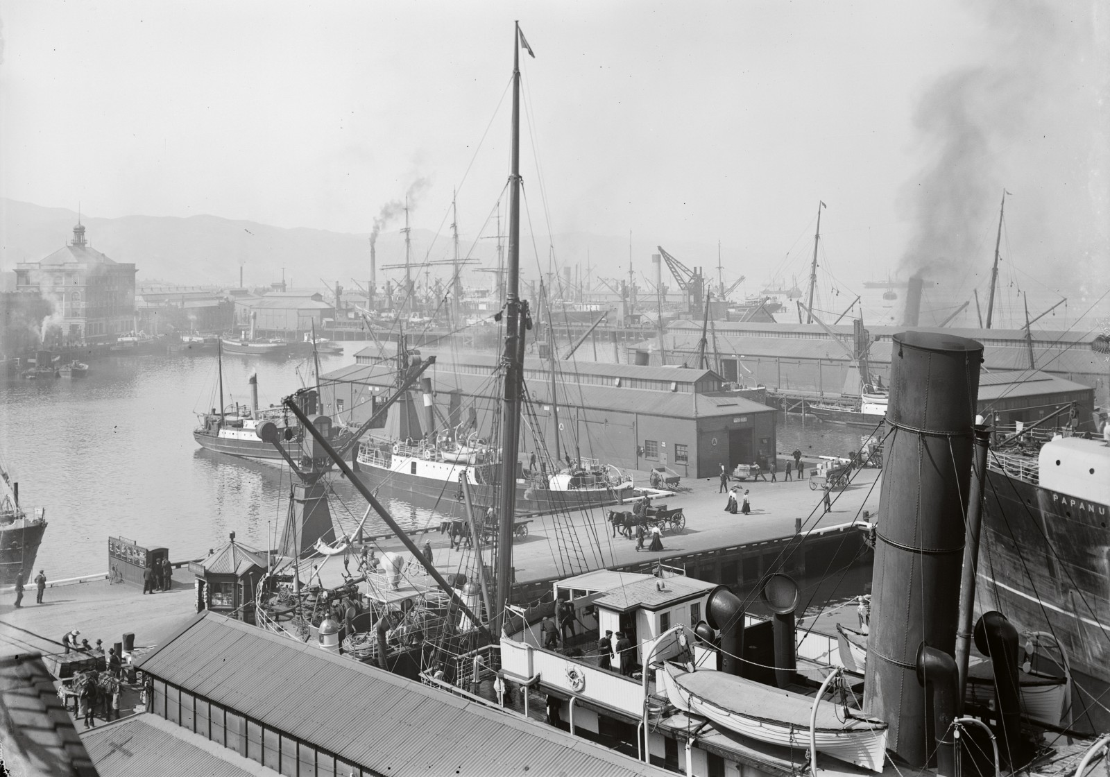 The bustle and news associated with arriving and departing vessels and their cargoes were a source of interest and free entertainment for all. The wharves were also public thoroughfares and open to everyone.
