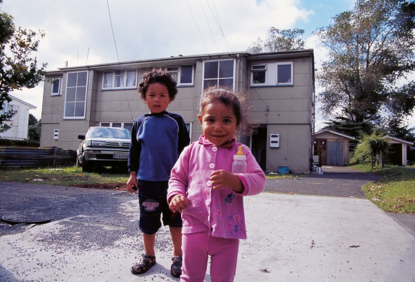 Although these Auckland state houses are only a few kilometres apart, the bland blocks in Glen Innes' Talbot Park are worth little compared with the elderly Orakei house (below, portrait), which has a valuation of more than a million dollars.