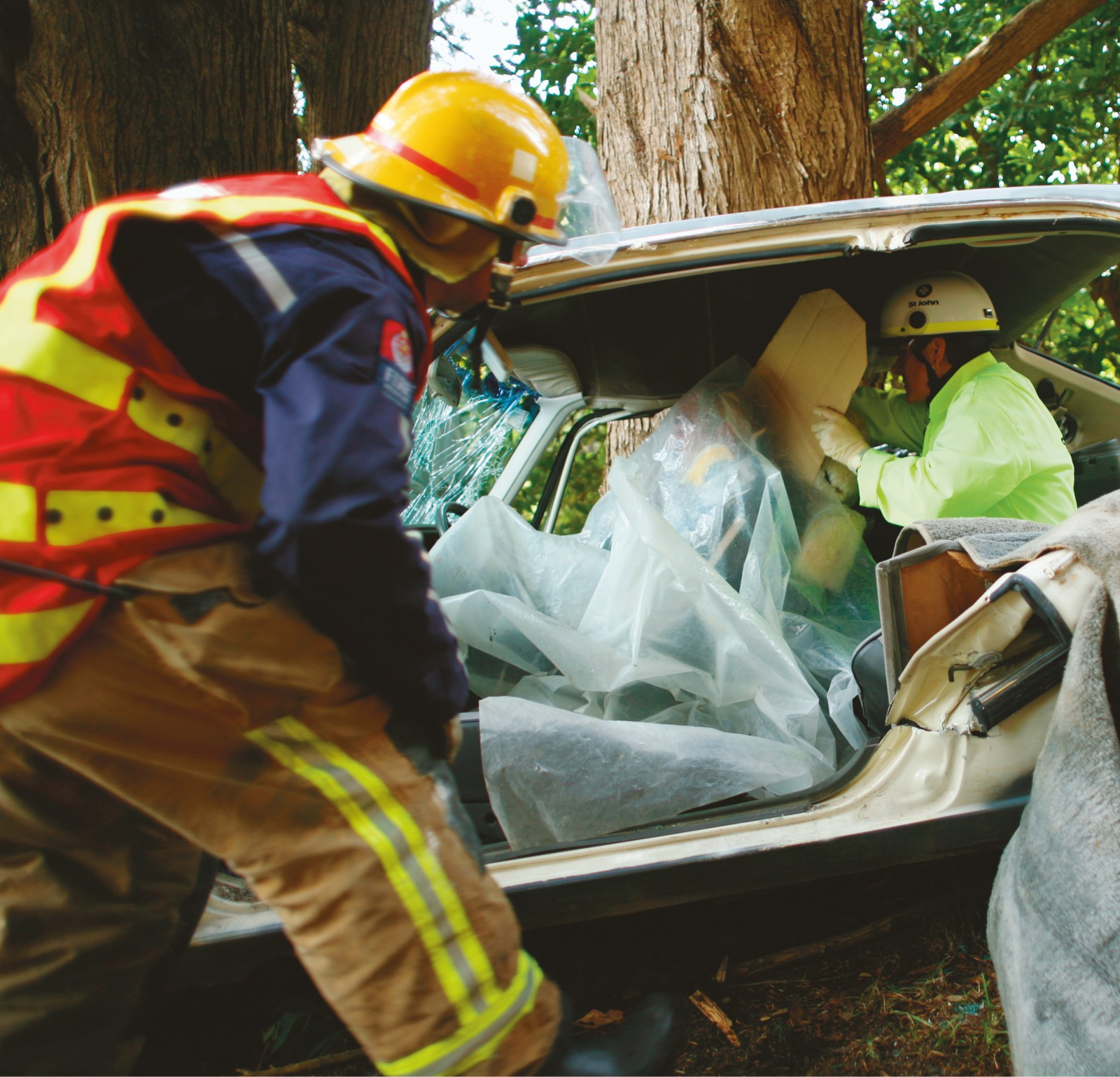 "Saving lives at an accident scene is a fraught business. Releasing a trapped driver comes down to technique and procedures—equipment is heavy and ungainly and a car can easily collapse on itself, injuring medical teams and occupants. Firefighters aim at the ""golden hour"", an optimal period for releasing a trapped driver and providing them with primary care."