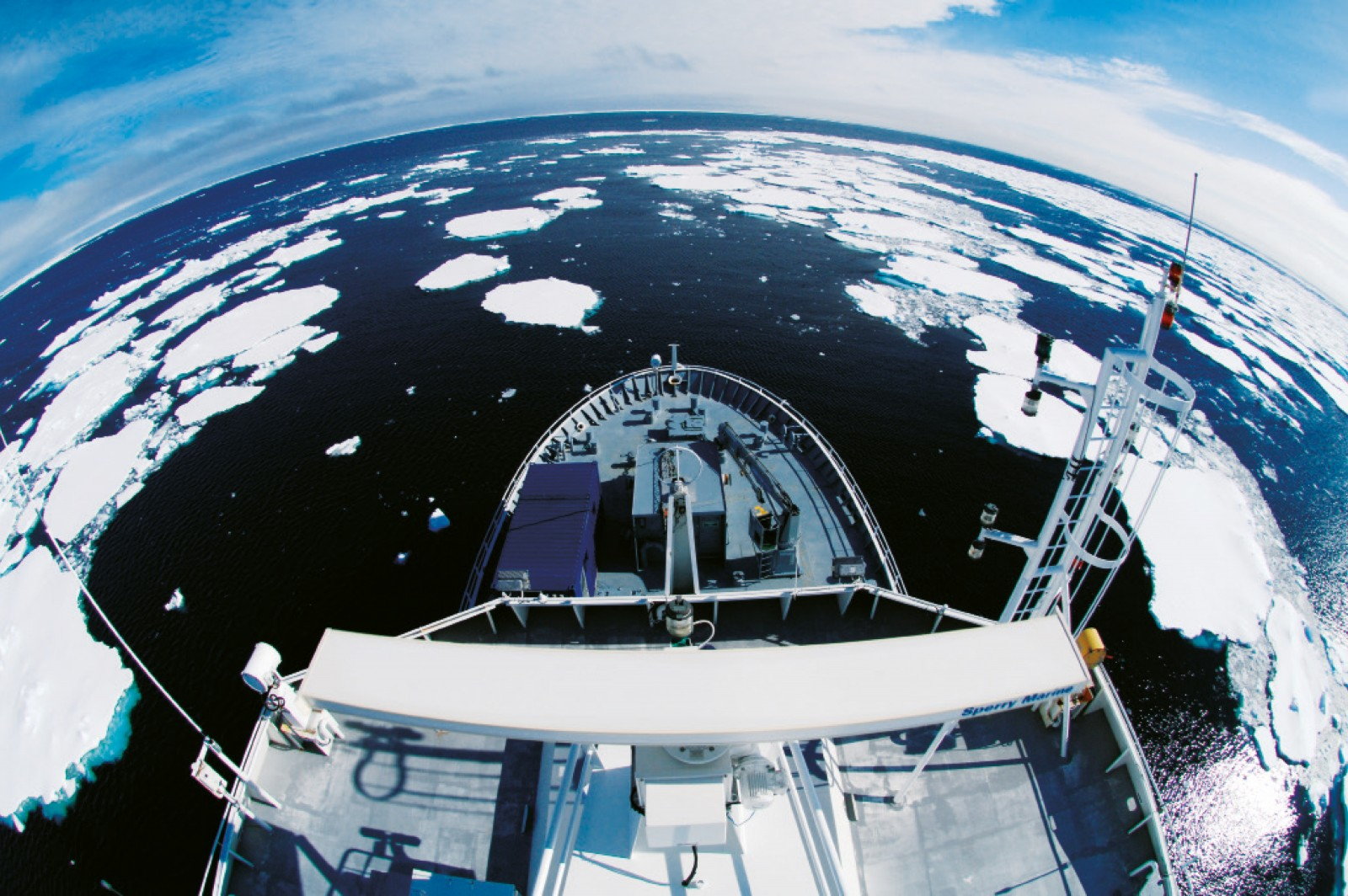 Viewed from the radar mast of the NIWA research vessel Tangaroa, the Ross Sea is a patchwork of shattered floes. Covered for nine months of the year in a crust of ice up to two metres thick, channels form in summer triggering an explosion of phytoplankton that rains detritus and nutrients through the water column into the depths beneath. These depths are a cold and unusual environment for life, an alien universe of creatures dependent on this hail of food in the summer, and devouring one another when the ice returns. On this voyage, the Tangaroa carried a multibeam echosounder, towed video and still cameras, trawl nets, a specialised benthic sled for sampling creatures living just above the seafloor, and a slew of equipment to collect plankton and measure salinity, temperature and chlorophyll levels