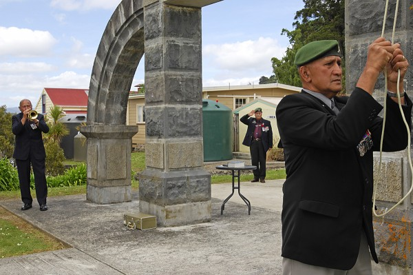 Veterans of the Opononi RSA travelled to Kohukohu for Armistice Day memo- rial in 2008 to acknowledge the passing of another brother in arms. Their ranks included veterans from many theatres of war, as well as current soldiers.