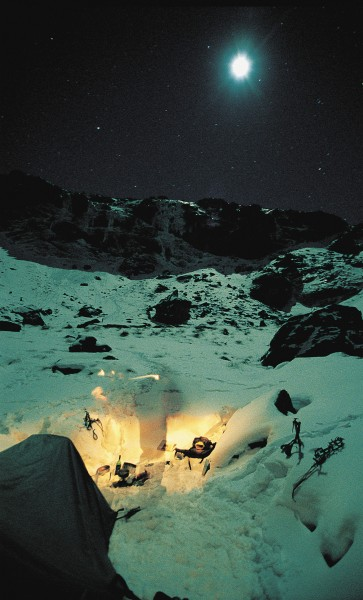 The colder the better is the rule for ice climbers, who dread being caught in full sun on a melting ice wall. Pre-dawn starts from campsites in the snow are standard fare.