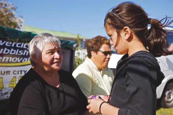 Maori MP Tariana Turia with her granddaughter Tariana during Ratana celebrations, 2008.