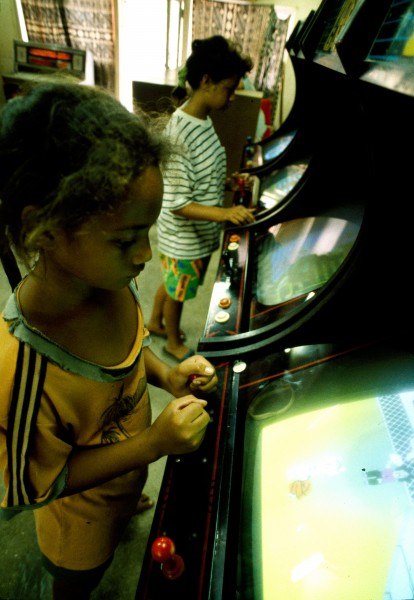 While children clamour for piu piu (video games) in Rarotonga, simpler amusements are at hand on Mangaia, the southernmost island in the Cooks group (below).