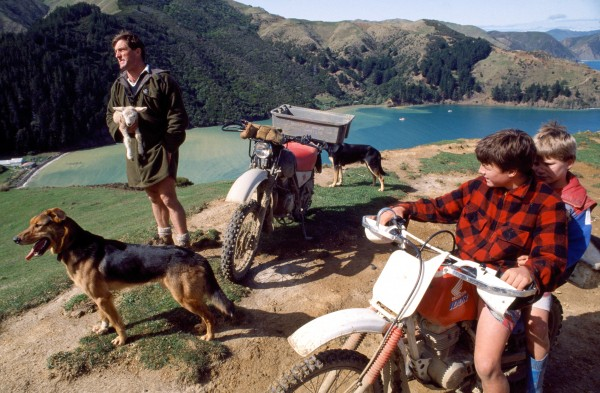 The Kings' is one of the largest farms on the island. While motorbikes are the most practical form of transport, Guy, who used to be a deer culIer, dreams of owning a helicopter to get around the property. While he may not yet own the real thing, his children can take wooIly passengers for pretend rides in a realistic homemade version.