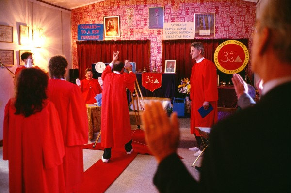 """The Atherius Society, founded by yogic mystic Sir George King in 1954, holds regular services in which a """"radionic battery"""" is charged with prayers using """"eastern mantras and mystic maduras."""" When disasters occur on Earth, the stored prayer power is dispensed. Many of the society's teachings ore derived from"""" cosmic masters"""" whom the society describes as """"highly evolved extraterrestrials."""""""