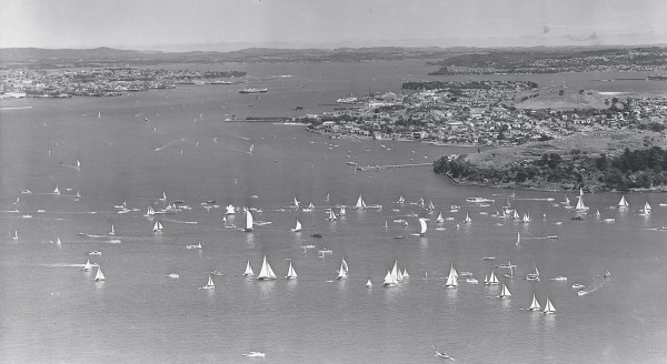 The Auckland Anniversary Regatta, officially inaugurated in 1850, came to mark the height of the city's yachting season. In 1951, regatta weekend was kicked off with the start of a nine-yacht trans-Tasman race, which drew a large fleet of well-wishers. One of the contestants was Rangi, built by the Baileys as a snapper boat in 1903. Under the care of today's classic-boat enthusiasts, such boats are being restored, and once again cut a dash on regatta day, racing down the coast to AUckland from Mahurangi.