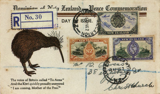 One of the first and most enduring international platforms for the national bird, rose to prominence on the parade grounds of the British Army. The kiwi's lack of limbs suitable for carrying weapons proved no impediment to the nation's cartoonists, who found the conflict with Turkey during World War I a fertile source of puns.