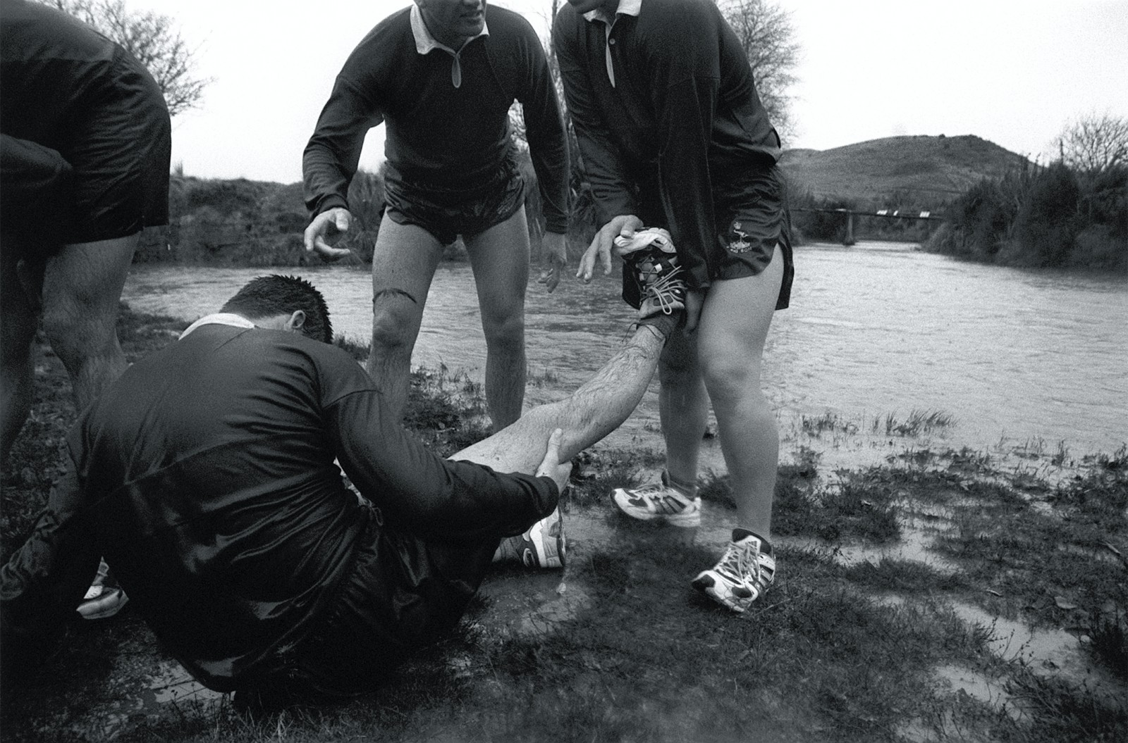 """Bone-chilling river crossings and near-vertical hill climbs take their toll on recruits not used to the rigours of the outdoors. The physical demands aren't the only challenge; army discipline takes some getting used to. A recruit, discovered unshaven, is reprimanded. Later he tells me, """"If they shaved in Vietnam, then that's good enough for me."""" It's not all work; Sundays are free. In the morning, some attend church, and the afternoon can be spent with visiting friends and family."""