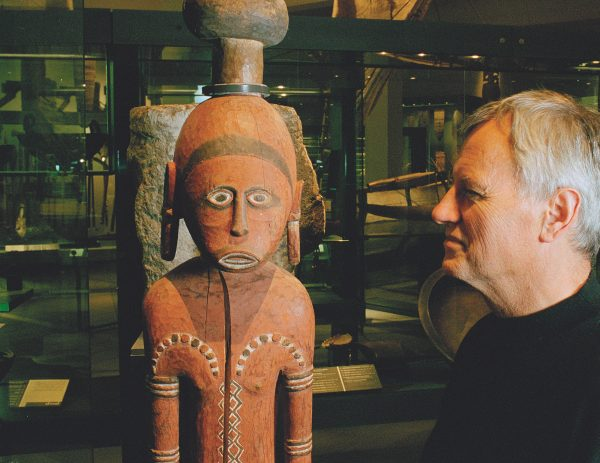 """The Pacific collection is one of the great gems of Auckland Museum—and one of my favourite areas,"" says director Rodney Wilson, here in the company of an ancestor figure from the Admiralty Islands. From its inception in 1852, the museum has gathered such objects to help New Zealanders better understand their world and the forces moulding its future."