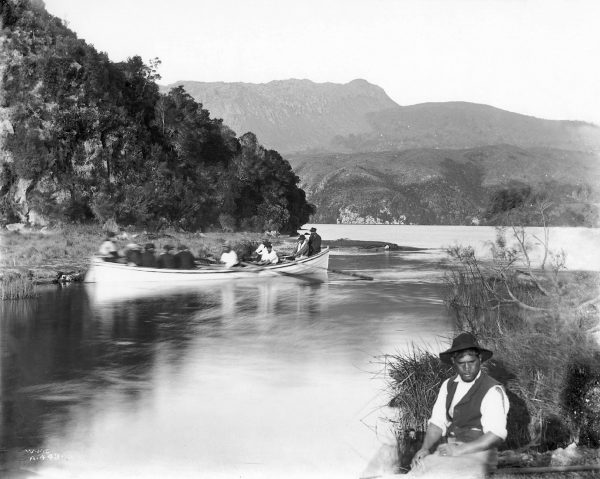 Tourism brought employment to the settlement of Te Wairoa for guides, boatmen and hoteliers. To reach the terraces, most visitors walked two kilometres from the southern shore of Lake Tarawera, having been rowed across the lake—a journey that took several hours.
