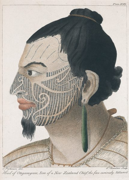 The elaborate moko worn by Maori fascinated Sydney Parkinson as is evidenced in a collection of painstaking portraits he compiled.