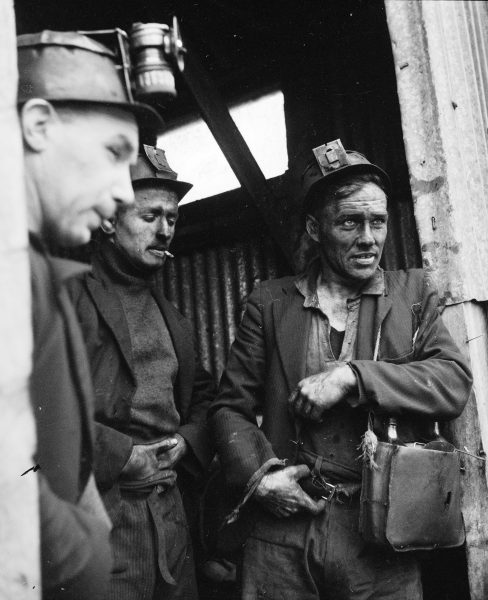 "Miners typically started work in their teens (opposite)—some as young as 10—and stayed ""on the coal"" for 40 or 50 years. One miner recalled that his father was still going into the mine aged 67. He threatened to burn his pit clothes to make him retire."