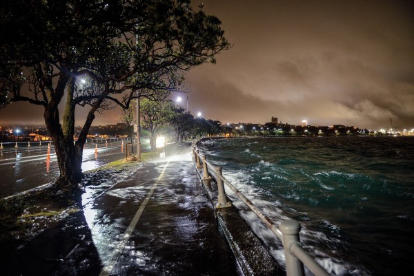 Like throwing a double six, when spring tides coincide with north-east gales, Auckland's Tamaki Drive—an important commuter route between the city and the eastern bay suburbs—gets it in the neck. As sea levels rise, the odds of that combination will increase. A rise of 0.4 metres, expected by mid-century, will make what is currently a 1-in-100-year flooding event an annual occurrence.