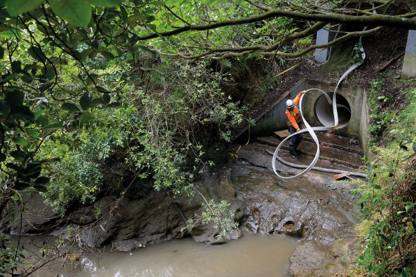 Repair work to sewage and stormwater networks can be disruptive and expensive, but 'trenchless pipe renewal', uses a remotely operated machine to clear blockages and reline leaky drains.